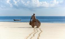 Fisherman on the beach near Mombasa