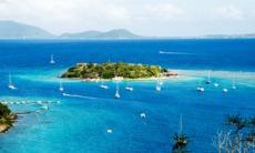 View of Virgin Gorda and Marina Cay, British Virgin Islands