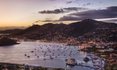 Charlotte Amalie, St Thomas at night