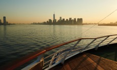 Silversea's Silver Whisper arrives into New York on a world cruise itinerary