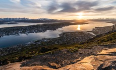 View of Tromso from Mount Storsteinen, Norway