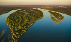 Zambezi river cruise - Aerial view