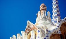 Gingerbread house in Park Guell, Barcelona