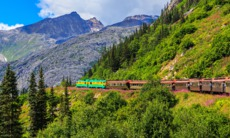 White Pass and Yukon Route railway near Skagway, Alaska