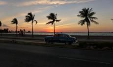 Sunset over the Malecón, Havana