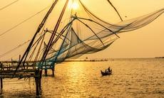 Traditional fishing in Kochi, India