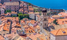 Tiled roofs of the Old Town in Dubrovnik, Croatia