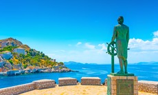 Statue in Hydra, Greece