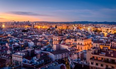 Sunset over Valencia, Spain