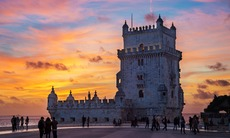 Sunset over Torre de Belem, Lisbon