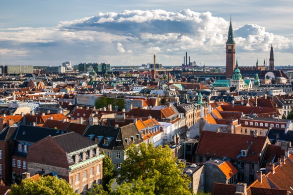Copenhagen city skyline