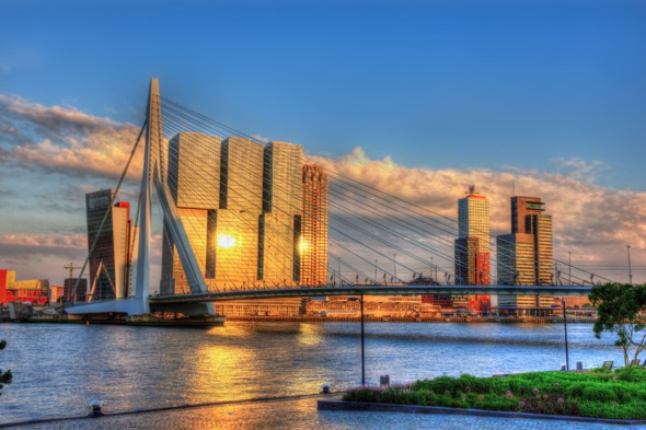 View of Rotterdam, Netherlands