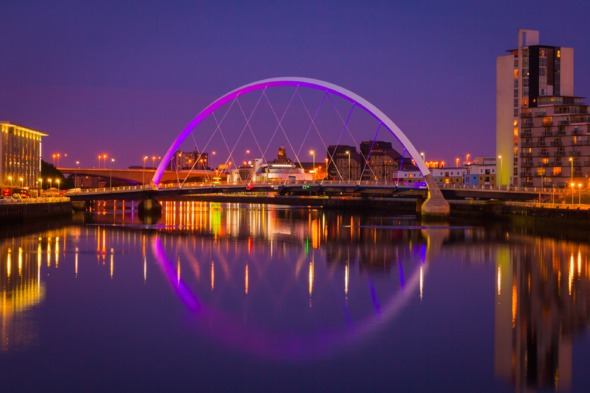 Glasgow by night