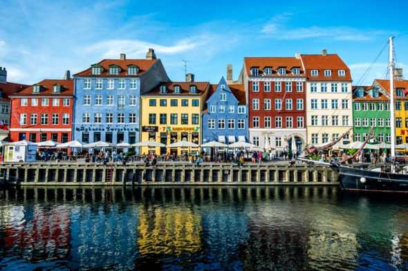 Colourful buildings in Nyhavn, Copenhagen
