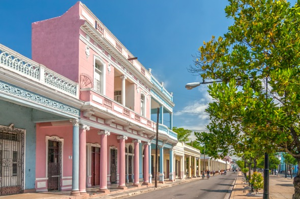 Colourful buildings in Cienfuegos, Cuba