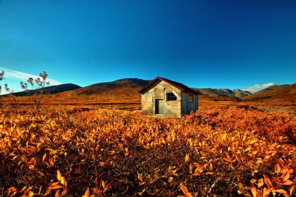 Abandoned miners' camp near Nome, Alaska