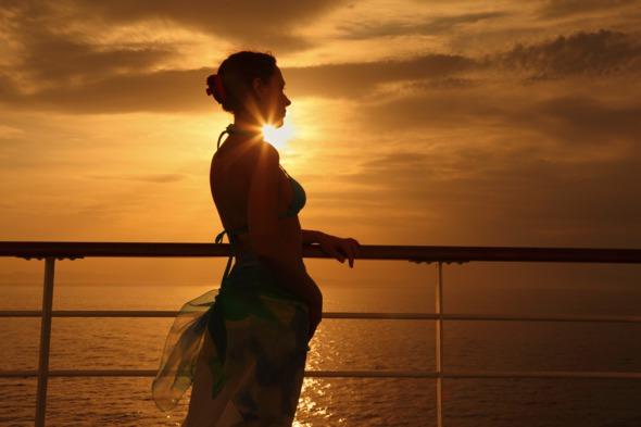 Singles cruises - sunset on deck