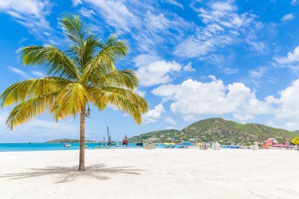 Beach near Philipsburg, St Maarten