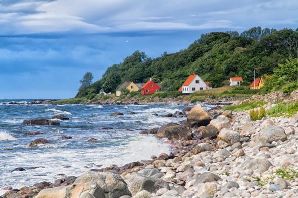 Houses on Bornholm, Denmark