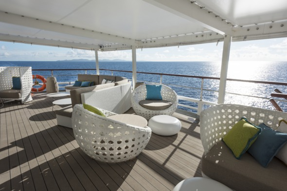 Crystal Yacht Cruises - Crystal Esprit sunset bar