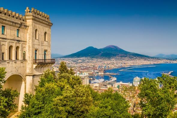 View of Naples and Vesuvius, Italy