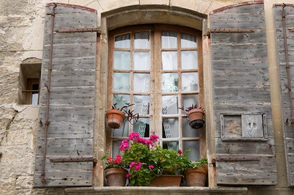 Window in Arles, France