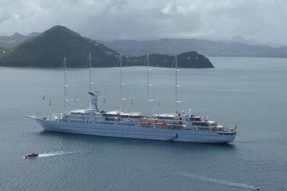 Wind Surf anchored off Pigeon Island, Saint Lucia