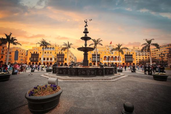 Main square in Lima, Peru