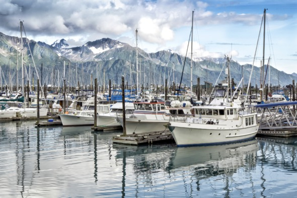 Boats in Seward harbour, Alaska