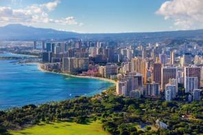 Aerial view of Honolulu, Hawaii