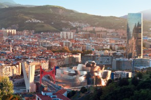 Aerial view of Bilbao, Spain