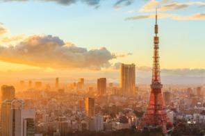 Sunset over Tokyo, Japan