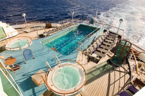 Holland America Line cruises - MS Prinsendam pool deck