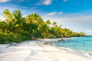 Beach in the Fakarava atoll, French Polynesia