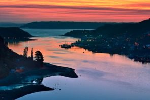 Sunset over Puerto Montt, Chile