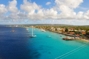 Aerial view of Kralendijk, Bonaire