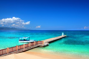 Doctor's Cave Beach Club in Montego Bay, Jamaica