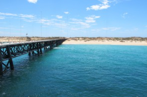 Navy pier in Exmouth, Australia