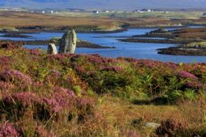 Langais stone circle on North Uist, Scotland