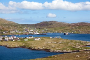 Castlebay on the Isle of Barra, Scotland