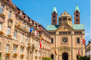 City hall and cathedral in Speyer, Germany