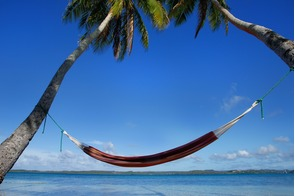 Hammock on Ofu Island in the Vava'u group, Tonga