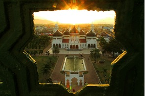 Baiturrahman Mosque in Banda Aceh, Indonesia