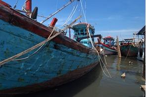 Fishing boats in Belawan, Indonesia