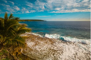 Rocky shore of Niue island in the South Pacific