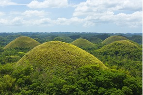 Chocolate Hills on Bohol island, the Philippines