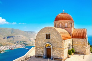 Agios Savvas monastery in Kalymnos, Greece