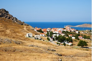 Village on Limnos island, Greece