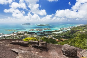 View of Victoria, Mahé, Seychelles