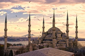 Sunset over the Blue Mosque, Istanbul